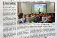 Bericht der Rheinpfalz über die Grundschule Erzhütten