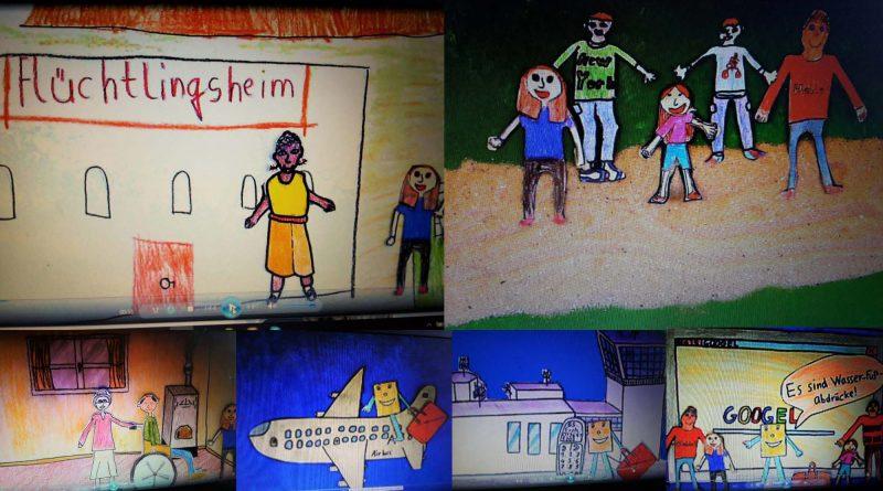 Collage aus dem Trickfilm Semret